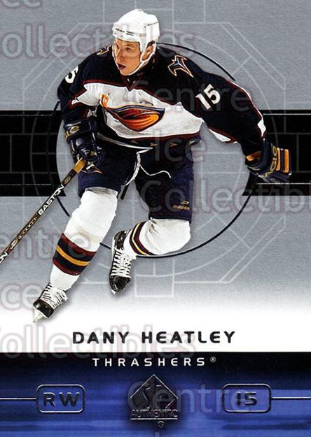 2002-03 SP Authentic #4 Dany Heatley<br/>9 In Stock - $1.00 each - <a href=https://centericecollectibles.foxycart.com/cart?name=2002-03%20SP%20Authentic%20%234%20Dany%20Heatley...&quantity_max=9&price=$1.00&code=106547 class=foxycart> Buy it now! </a>