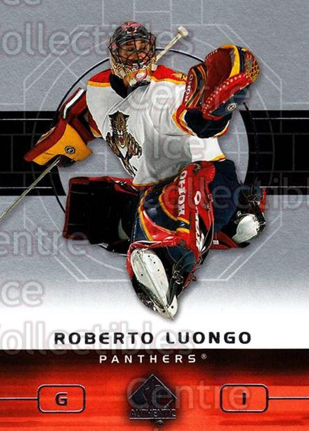 2002-03 SP Authentic #40 Roberto Luongo<br/>6 In Stock - $2.00 each - <a href=https://centericecollectibles.foxycart.com/cart?name=2002-03%20SP%20Authentic%20%2340%20Roberto%20Luongo...&quantity_max=6&price=$2.00&code=106548 class=foxycart> Buy it now! </a>