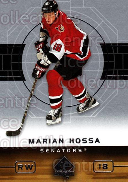 2002-03 SP Authentic #63 Marian Hossa<br/>6 In Stock - $1.00 each - <a href=https://centericecollectibles.foxycart.com/cart?name=2002-03%20SP%20Authentic%20%2363%20Marian%20Hossa...&quantity_max=6&price=$1.00&code=106572 class=foxycart> Buy it now! </a>