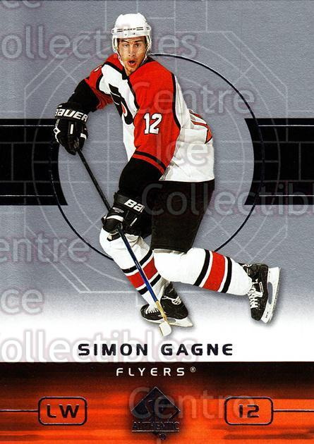 2002-03 SP Authentic #67 Simon Gagne<br/>6 In Stock - $1.00 each - <a href=https://centericecollectibles.foxycart.com/cart?name=2002-03%20SP%20Authentic%20%2367%20Simon%20Gagne...&quantity_max=6&price=$1.00&code=106576 class=foxycart> Buy it now! </a>