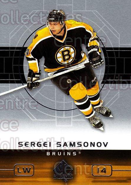 2002-03 SP Authentic #7 Sergei Samsonov<br/>9 In Stock - $1.00 each - <a href=https://centericecollectibles.foxycart.com/cart?name=2002-03%20SP%20Authentic%20%237%20Sergei%20Samsonov...&quantity_max=9&price=$1.00&code=106579 class=foxycart> Buy it now! </a>