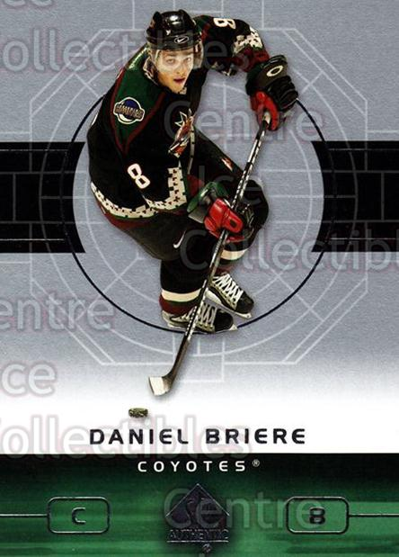 2002-03 SP Authentic #71 Daniel Briere<br/>9 In Stock - $1.00 each - <a href=https://centericecollectibles.foxycart.com/cart?name=2002-03%20SP%20Authentic%20%2371%20Daniel%20Briere...&quantity_max=9&price=$1.00&code=106581 class=foxycart> Buy it now! </a>