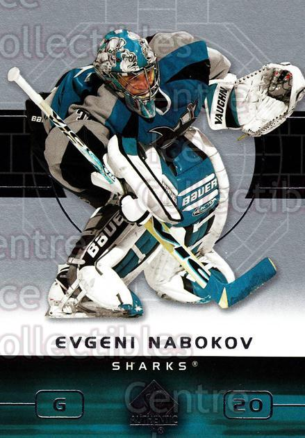 2002-03 SP Authentic #74 Evgeni Nabokov<br/>9 In Stock - $1.00 each - <a href=https://centericecollectibles.foxycart.com/cart?name=2002-03%20SP%20Authentic%20%2374%20Evgeni%20Nabokov...&quantity_max=9&price=$1.00&code=106584 class=foxycart> Buy it now! </a>