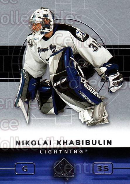 2002-03 SP Authentic #80 Nikolai Khabibulin<br/>9 In Stock - $1.00 each - <a href=https://centericecollectibles.foxycart.com/cart?name=2002-03%20SP%20Authentic%20%2380%20Nikolai%20Khabibu...&quantity_max=9&price=$1.00&code=106591 class=foxycart> Buy it now! </a>
