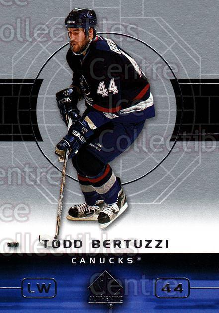 2002-03 SP Authentic #87 Todd Bertuzzi<br/>6 In Stock - $1.00 each - <a href=https://centericecollectibles.foxycart.com/cart?name=2002-03%20SP%20Authentic%20%2387%20Todd%20Bertuzzi...&quantity_max=6&price=$1.00&code=106598 class=foxycart> Buy it now! </a>