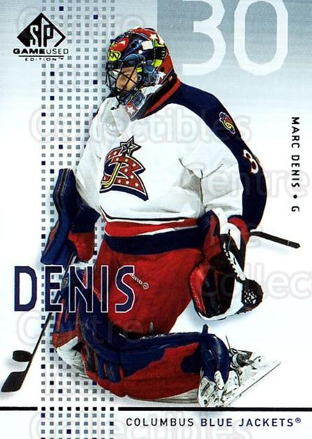 2002-03 SP Game Used #14 Marc Denis<br/>10 In Stock - $2.00 each - <a href=https://centericecollectibles.foxycart.com/cart?name=2002-03%20SP%20Game%20Used%20%2314%20Marc%20Denis...&quantity_max=10&price=$2.00&code=106609 class=foxycart> Buy it now! </a>