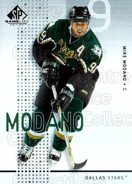 2002-03 SP Game Used #16 Mike Modano<br/>8 In Stock - $2.00 each - <a href=https://centericecollectibles.foxycart.com/cart?name=2002-03%20SP%20Game%20Used%20%2316%20Mike%20Modano...&quantity_max=8&price=$2.00&code=106611 class=foxycart> Buy it now! </a>