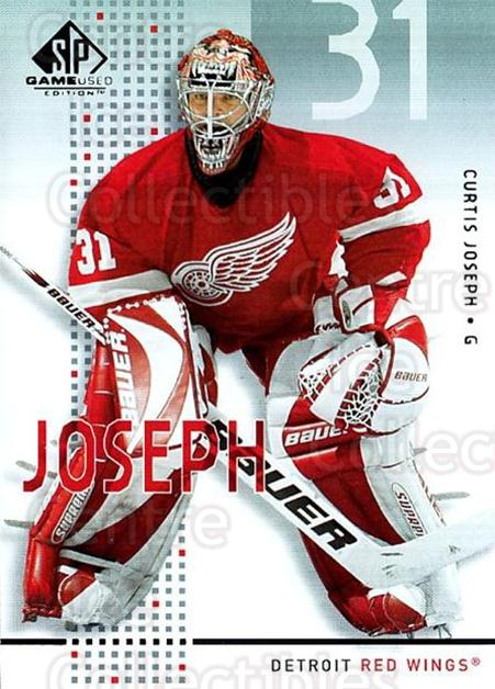 2002-03 SP Game Used #19 Curtis Joseph<br/>8 In Stock - $2.00 each - <a href=https://centericecollectibles.foxycart.com/cart?name=2002-03%20SP%20Game%20Used%20%2319%20Curtis%20Joseph...&quantity_max=8&price=$2.00&code=106613 class=foxycart> Buy it now! </a>
