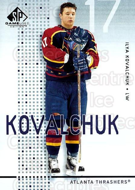 2002-03 SP Game Used #2 Ilya Kovalchuk<br/>7 In Stock - $2.00 each - <a href=https://centericecollectibles.foxycart.com/cart?name=2002-03%20SP%20Game%20Used%20%232%20Ilya%20Kovalchuk...&quantity_max=7&price=$2.00&code=106614 class=foxycart> Buy it now! </a>