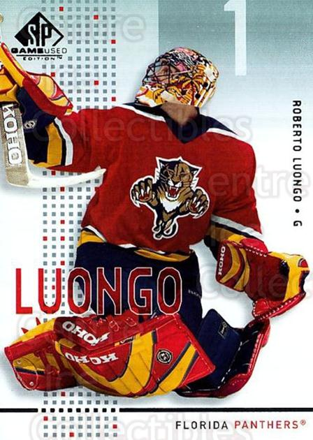 2002-03 SP Game Used #21 Roberto Luongo<br/>5 In Stock - $2.00 each - <a href=https://centericecollectibles.foxycart.com/cart?name=2002-03%20SP%20Game%20Used%20%2321%20Roberto%20Luongo...&quantity_max=5&price=$2.00&code=106616 class=foxycart> Buy it now! </a>