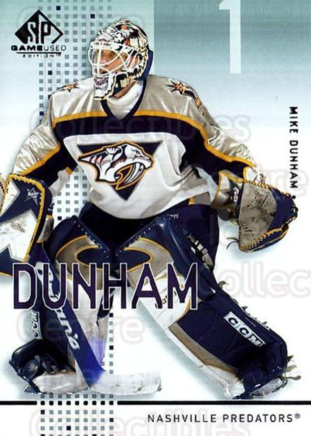 2002-03 SP Game Used #27 Mike Dunham<br/>11 In Stock - $2.00 each - <a href=https://centericecollectibles.foxycart.com/cart?name=2002-03%20SP%20Game%20Used%20%2327%20Mike%20Dunham...&quantity_max=11&price=$2.00&code=106620 class=foxycart> Buy it now! </a>