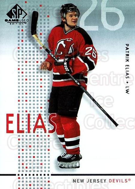 2002-03 SP Game Used #29 Patrik Elias<br/>7 In Stock - $2.00 each - <a href=https://centericecollectibles.foxycart.com/cart?name=2002-03%20SP%20Game%20Used%20%2329%20Patrik%20Elias...&quantity_max=7&price=$2.00&code=106621 class=foxycart> Buy it now! </a>