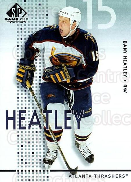 2002-03 SP Game Used #3 Dany Heatley<br/>6 In Stock - $2.00 each - <a href=https://centericecollectibles.foxycart.com/cart?name=2002-03%20SP%20Game%20Used%20%233%20Dany%20Heatley...&quantity_max=6&price=$2.00&code=106622 class=foxycart> Buy it now! </a>