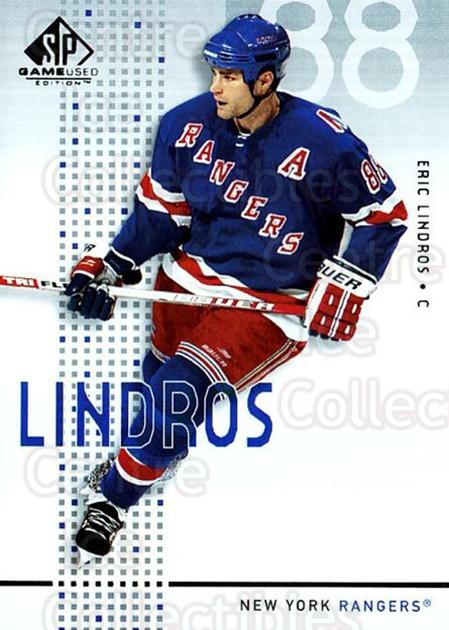 2002-03 SP Game Used #32 Eric Lindros<br/>5 In Stock - $2.00 each - <a href=https://centericecollectibles.foxycart.com/cart?name=2002-03%20SP%20Game%20Used%20%2332%20Eric%20Lindros...&quantity_max=5&price=$2.00&code=106624 class=foxycart> Buy it now! </a>