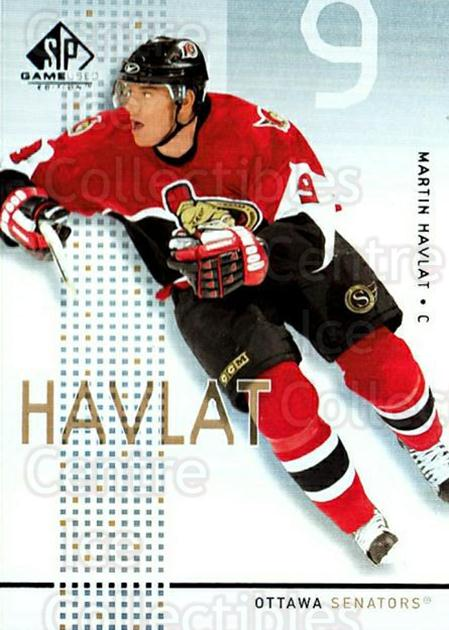 2002-03 SP Game Used #34 Martin Havlat<br/>9 In Stock - $2.00 each - <a href=https://centericecollectibles.foxycart.com/cart?name=2002-03%20SP%20Game%20Used%20%2334%20Martin%20Havlat...&quantity_max=9&price=$2.00&code=106625 class=foxycart> Buy it now! </a>