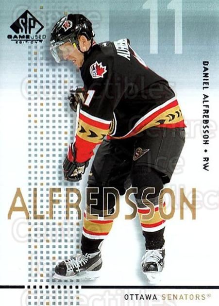 2002-03 SP Game Used #35 Daniel Alfredsson<br/>7 In Stock - $2.00 each - <a href=https://centericecollectibles.foxycart.com/cart?name=2002-03%20SP%20Game%20Used%20%2335%20Daniel%20Alfredss...&quantity_max=7&price=$2.00&code=106626 class=foxycart> Buy it now! </a>