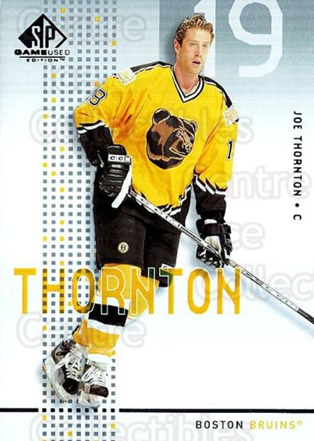 2002-03 SP Game Used #4 Joe Thornton<br/>6 In Stock - $2.00 each - <a href=https://centericecollectibles.foxycart.com/cart?name=2002-03%20SP%20Game%20Used%20%234%20Joe%20Thornton...&quantity_max=6&price=$2.00&code=106631 class=foxycart> Buy it now! </a>