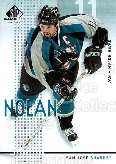 2002-03 SP Game Used #41 Owen Nolan<br/>9 In Stock - $2.00 each - <a href=https://centericecollectibles.foxycart.com/cart?name=2002-03%20SP%20Game%20Used%20%2341%20Owen%20Nolan...&quantity_max=9&price=$2.00&code=106632 class=foxycart> Buy it now! </a>