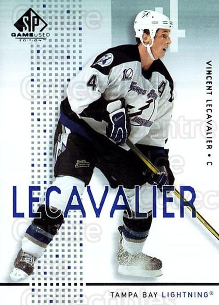 2002-03 SP Game Used #45 Vincent Lecavalier<br/>4 In Stock - $2.00 each - <a href=https://centericecollectibles.foxycart.com/cart?name=2002-03%20SP%20Game%20Used%20%2345%20Vincent%20Lecaval...&quantity_max=4&price=$2.00&code=106636 class=foxycart> Buy it now! </a>