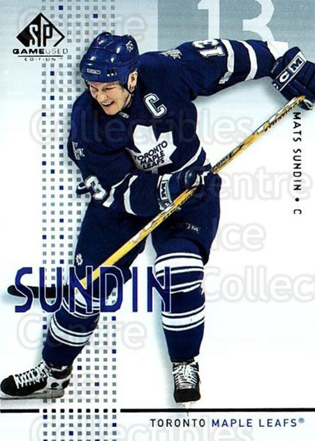 2002-03 SP Game Used #46 Mats Sundin<br/>4 In Stock - $2.00 each - <a href=https://centericecollectibles.foxycart.com/cart?name=2002-03%20SP%20Game%20Used%20%2346%20Mats%20Sundin...&quantity_max=4&price=$2.00&code=106637 class=foxycart> Buy it now! </a>