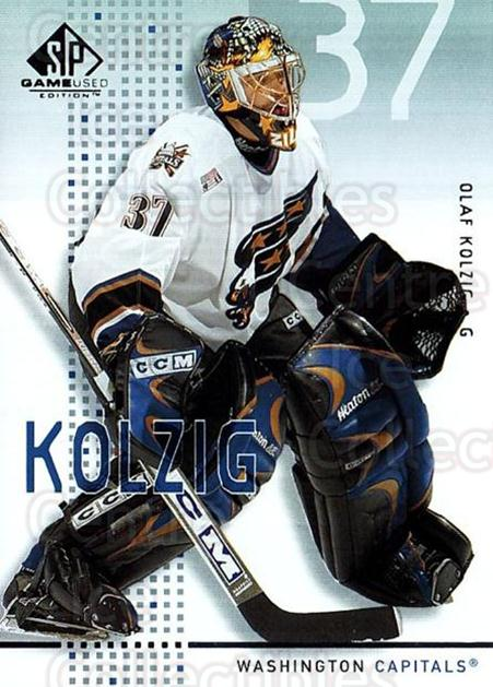 2002-03 SP Game Used #49 Olaf Kolzig<br/>7 In Stock - $2.00 each - <a href=https://centericecollectibles.foxycart.com/cart?name=2002-03%20SP%20Game%20Used%20%2349%20Olaf%20Kolzig...&quantity_max=7&price=$2.00&code=106638 class=foxycart> Buy it now! </a>