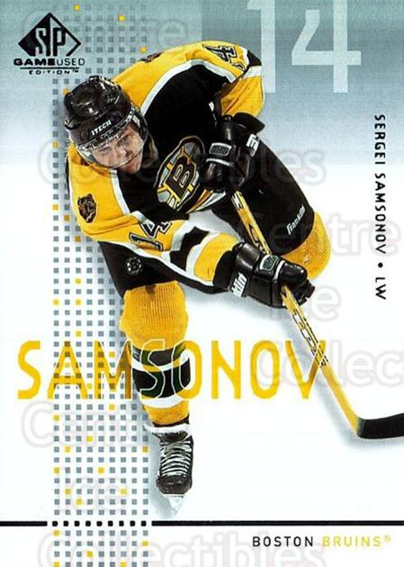 2002-03 SP Game Used #5 Sergei Samsonov<br/>8 In Stock - $2.00 each - <a href=https://centericecollectibles.foxycart.com/cart?name=2002-03%20SP%20Game%20Used%20%235%20Sergei%20Samsonov...&quantity_max=8&price=$2.00&code=106639 class=foxycart> Buy it now! </a>