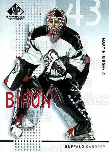 2002-03 SP Game Used #6 Martin Biron<br/>8 In Stock - $2.00 each - <a href=https://centericecollectibles.foxycart.com/cart?name=2002-03%20SP%20Game%20Used%20%236%20Martin%20Biron...&quantity_max=8&price=$2.00&code=106640 class=foxycart> Buy it now! </a>