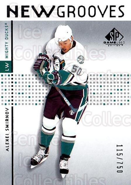 2002-03 SP Game Used #66 Alexei Smirnov<br/>3 In Stock - $5.00 each - <a href=https://centericecollectibles.foxycart.com/cart?name=2002-03%20SP%20Game%20Used%20%2366%20Alexei%20Smirnov...&quantity_max=3&price=$5.00&code=106644 class=foxycart> Buy it now! </a>