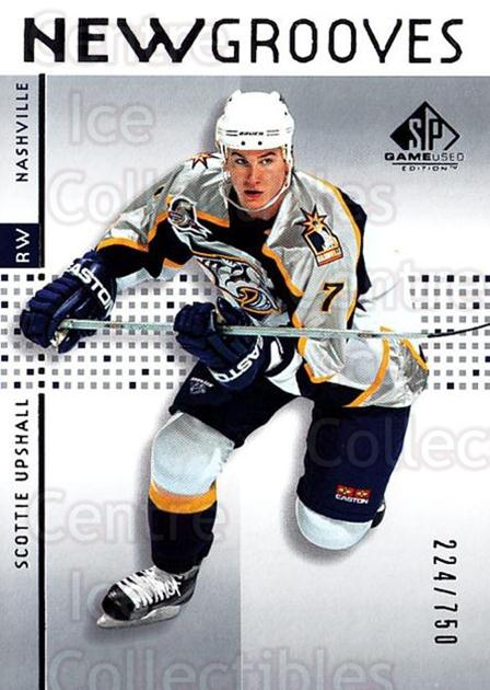 2002-03 SP Game Used #85 Scottie Upshall<br/>5 In Stock - $5.00 each - <a href=https://centericecollectibles.foxycart.com/cart?name=2002-03%20SP%20Game%20Used%20%2385%20Scottie%20Upshall...&quantity_max=5&price=$5.00&code=106654 class=foxycart> Buy it now! </a>