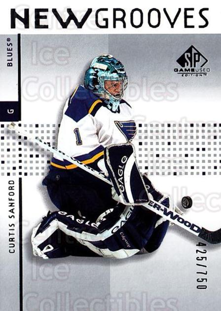 2002-03 SP Game Used #92 Curtis Sanford<br/>3 In Stock - $5.00 each - <a href=https://centericecollectibles.foxycart.com/cart?name=2002-03%20SP%20Game%20Used%20%2392%20Curtis%20Sanford...&quantity_max=3&price=$5.00&code=106658 class=foxycart> Buy it now! </a>