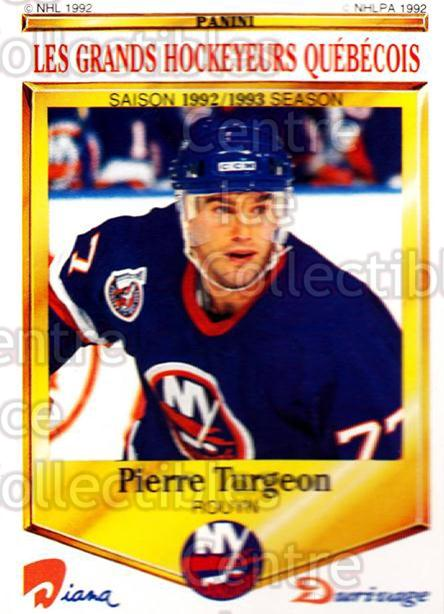 1992-93 Durivage Panini #11 Pierre Turgeon<br/>3 In Stock - $2.00 each - <a href=https://centericecollectibles.foxycart.com/cart?name=1992-93%20Durivage%20Panini%20%2311%20Pierre%20Turgeon...&quantity_max=3&price=$2.00&code=10672 class=foxycart> Buy it now! </a>