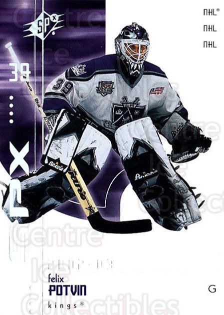 2002-03 SPx #36 Felix Potvin<br/>5 In Stock - $1.00 each - <a href=https://centericecollectibles.foxycart.com/cart?name=2002-03%20SPx%20%2336%20Felix%20Potvin...&quantity_max=5&price=$1.00&code=106793 class=foxycart> Buy it now! </a>