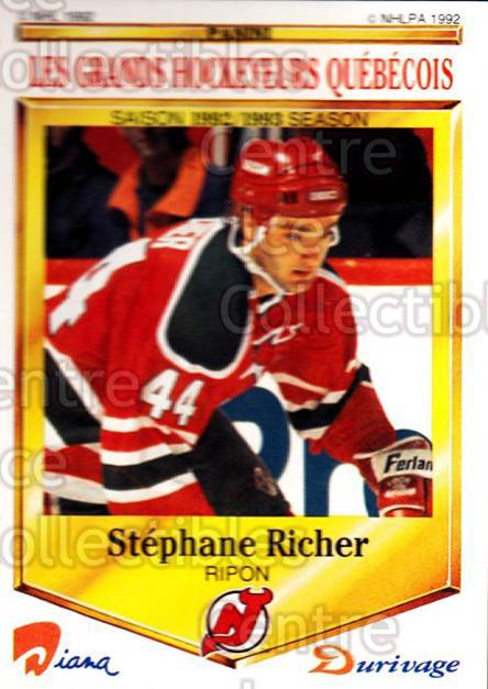 1992-93 Durivage Panini #18 Stephane Richer<br/>5 In Stock - $2.00 each - <a href=https://centericecollectibles.foxycart.com/cart?name=1992-93%20Durivage%20Panini%20%2318%20Stephane%20Richer...&quantity_max=5&price=$2.00&code=10679 class=foxycart> Buy it now! </a>