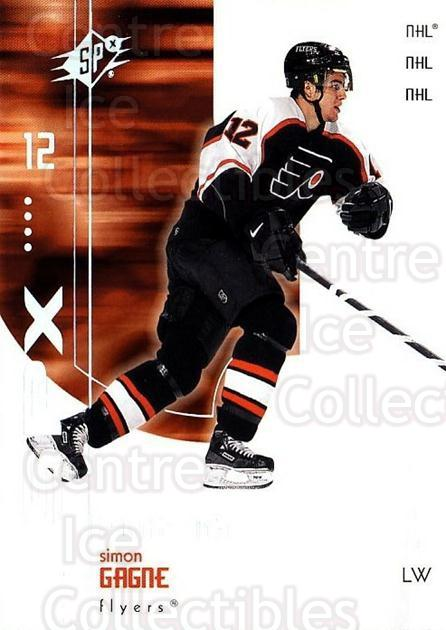 2002-03 SPx #56 Simon Gagne<br/>4 In Stock - $1.00 each - <a href=https://centericecollectibles.foxycart.com/cart?name=2002-03%20SPx%20%2356%20Simon%20Gagne...&quantity_max=4&price=$1.00&code=106815 class=foxycart> Buy it now! </a>