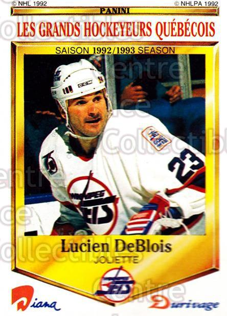 1992-93 Durivage Panini #2 Lucien DeBlois<br/>6 In Stock - $2.00 each - <a href=https://centericecollectibles.foxycart.com/cart?name=1992-93%20Durivage%20Panini%20%232%20Lucien%20DeBlois...&quantity_max=6&price=$2.00&code=10681 class=foxycart> Buy it now! </a>