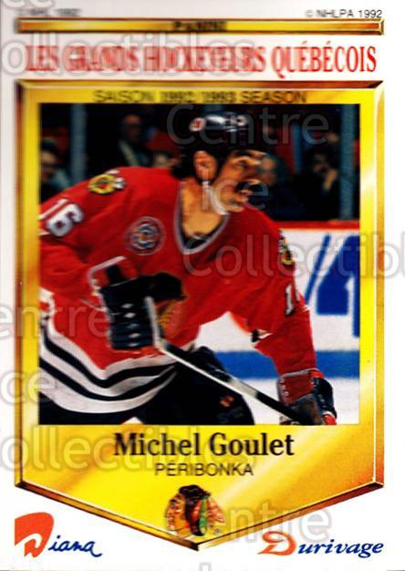 1992-93 Durivage Panini #24 Michel Goulet<br/>5 In Stock - $2.00 each - <a href=https://centericecollectibles.foxycart.com/cart?name=1992-93%20Durivage%20Panini%20%2324%20Michel%20Goulet...&quantity_max=5&price=$2.00&code=10685 class=foxycart> Buy it now! </a>