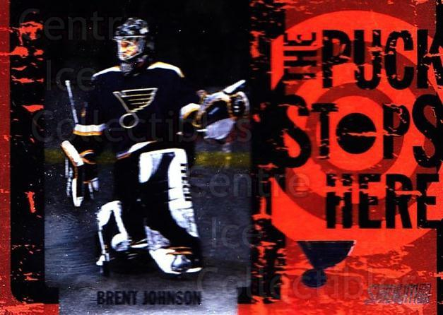 2002-03 Stadium Club Puck Stops Here #1 Brent Johnson<br/>6 In Stock - $3.00 each - <a href=https://centericecollectibles.foxycart.com/cart?name=2002-03%20Stadium%20Club%20Puck%20Stops%20Here%20%231%20Brent%20Johnson...&quantity_max=6&price=$3.00&code=106864 class=foxycart> Buy it now! </a>