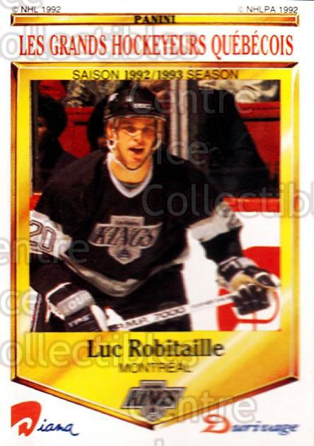 1992-93 Durivage Panini #28 Luc Robitaille<br/>6 In Stock - $2.00 each - <a href=https://centericecollectibles.foxycart.com/cart?name=1992-93%20Durivage%20Panini%20%2328%20Luc%20Robitaille...&quantity_max=6&price=$2.00&code=10689 class=foxycart> Buy it now! </a>