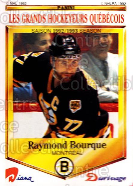 1992-93 Durivage Panini #31 Ray Bourque<br/>4 In Stock - $2.00 each - <a href=https://centericecollectibles.foxycart.com/cart?name=1992-93%20Durivage%20Panini%20%2331%20Ray%20Bourque...&quantity_max=4&price=$2.00&code=10693 class=foxycart> Buy it now! </a>