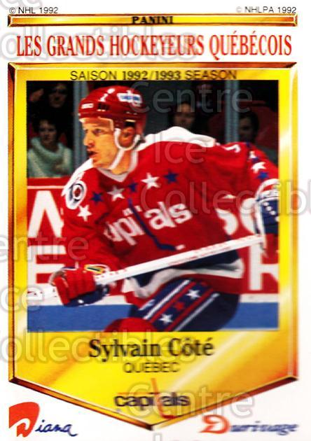 1992-93 Durivage Panini #34 Sylvain Cote<br/>6 In Stock - $2.00 each - <a href=https://centericecollectibles.foxycart.com/cart?name=1992-93%20Durivage%20Panini%20%2334%20Sylvain%20Cote...&quantity_max=6&price=$2.00&code=10696 class=foxycart> Buy it now! </a>