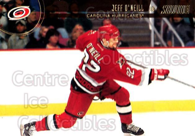 2002-03 Stadium Club #32 Jeff O'Neill<br/>11 In Stock - $1.00 each - <a href=https://centericecollectibles.foxycart.com/cart?name=2002-03%20Stadium%20Club%20%2332%20Jeff%20O'Neill...&quantity_max=11&price=$1.00&code=107012 class=foxycart> Buy it now! </a>