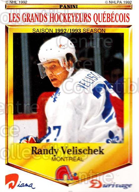1992-93 Durivage Panini #45 Randy Velischek<br/>7 In Stock - $2.00 each - <a href=https://centericecollectibles.foxycart.com/cart?name=1992-93%20Durivage%20Panini%20%2345%20Randy%20Velischek...&quantity_max=7&price=$2.00&code=10708 class=foxycart> Buy it now! </a>