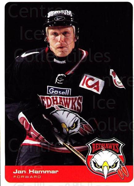 2002-03 Swedish Malmo Redhawks Team Issue #6 Jan Hammar<br/>1 In Stock - $3.00 each - <a href=https://centericecollectibles.foxycart.com/cart?name=2002-03%20Swedish%20Malmo%20Redhawks%20Team%20Issue%20%236%20Jan%20Hammar...&quantity_max=1&price=$3.00&code=107113 class=foxycart> Buy it now! </a>