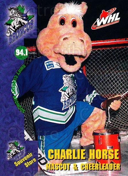 2002-03 Swift Current Broncos #24 Mascot<br/>8 In Stock - $3.00 each - <a href=https://centericecollectibles.foxycart.com/cart?name=2002-03%20Swift%20Current%20Broncos%20%2324%20Mascot...&quantity_max=8&price=$3.00&code=107303 class=foxycart> Buy it now! </a>