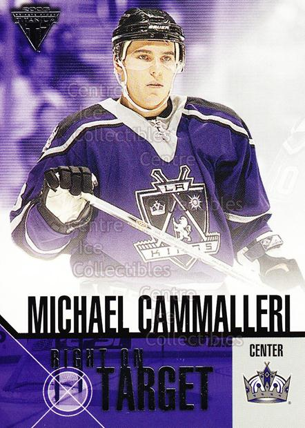 2002-03 Titanium Right on Target #11 Mike Cammalleri<br/>9 In Stock - $2.00 each - <a href=https://centericecollectibles.foxycart.com/cart?name=2002-03%20Titanium%20Right%20on%20Target%20%2311%20Mike%20Cammalleri...&quantity_max=9&price=$2.00&code=107468 class=foxycart> Buy it now! </a>