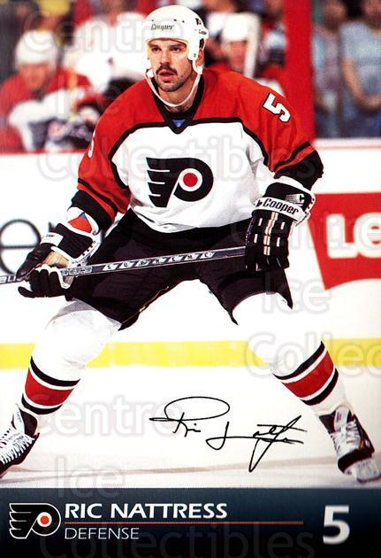 1992-93 Philadelphia Flyers Postcards #18 Ric Nattress<br/>4 In Stock - $3.00 each - <a href=https://centericecollectibles.foxycart.com/cart?name=1992-93%20Philadelphia%20Flyers%20Postcards%20%2318%20Ric%20Nattress...&quantity_max=4&price=$3.00&code=10746 class=foxycart> Buy it now! </a>