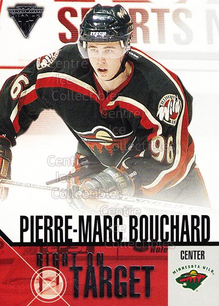 2002-03 Titanium Right on Target #13 Pierre-Marc Bouchard<br/>9 In Stock - $2.00 each - <a href=https://centericecollectibles.foxycart.com/cart?name=2002-03%20Titanium%20Right%20on%20Target%20%2313%20Pierre-Marc%20Bou...&quantity_max=9&price=$2.00&code=107470 class=foxycart> Buy it now! </a>