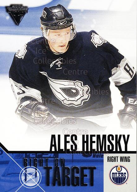 2002-03 Titanium Right on Target #8 Ales Hemsky<br/>10 In Stock - $2.00 each - <a href=https://centericecollectibles.foxycart.com/cart?name=2002-03%20Titanium%20Right%20on%20Target%20%238%20Ales%20Hemsky...&quantity_max=10&price=$2.00&code=107482 class=foxycart> Buy it now! </a>