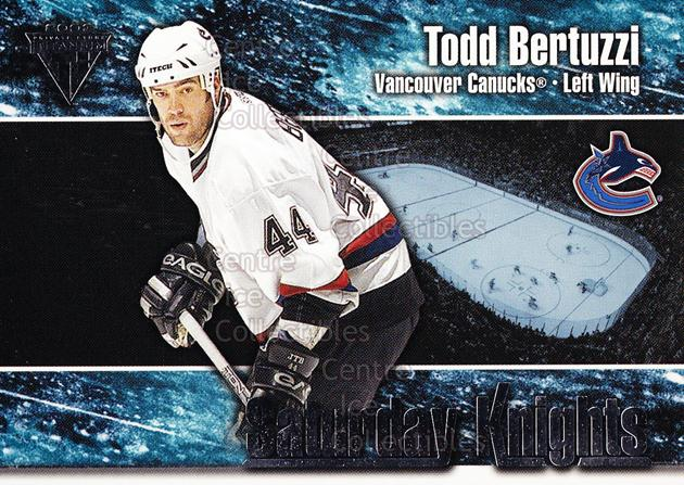 2002-03 Titanium Saturday Knights #10 Todd Bertuzzi<br/>6 In Stock - $2.00 each - <a href=https://centericecollectibles.foxycart.com/cart?name=2002-03%20Titanium%20Saturday%20Knights%20%2310%20Todd%20Bertuzzi...&quantity_max=6&price=$2.00&code=107484 class=foxycart> Buy it now! </a>