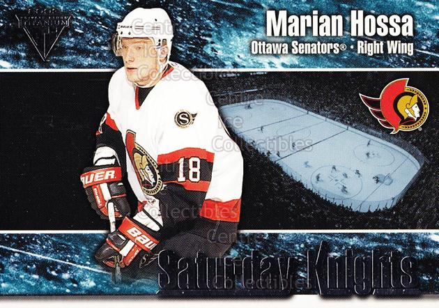 2002-03 Titanium Saturday Knights #6 Marian Hossa<br/>6 In Stock - $2.00 each - <a href=https://centericecollectibles.foxycart.com/cart?name=2002-03%20Titanium%20Saturday%20Knights%20%236%20Marian%20Hossa...&quantity_max=6&price=$2.00&code=107486 class=foxycart> Buy it now! </a>